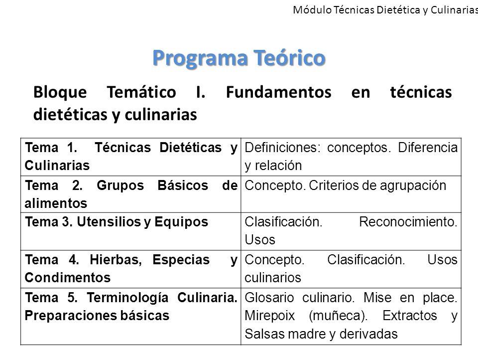 Módulo Técnicas Dietética y Culinarias