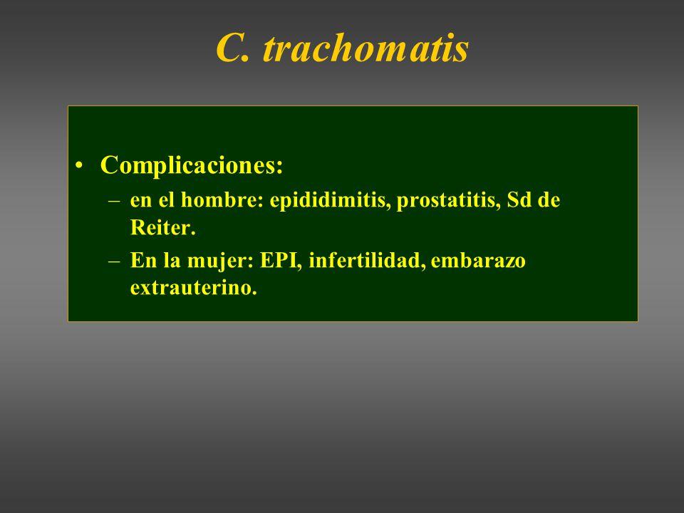 C. trachomatis Complicaciones: