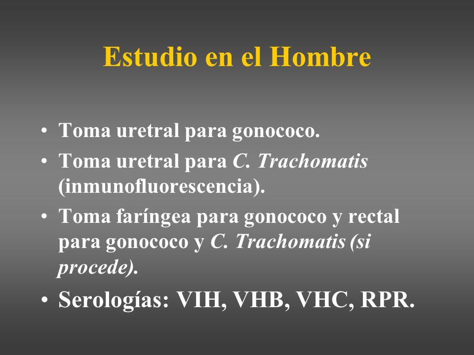Estudio en el Hombre Serologías: VIH, VHB, VHC, RPR.