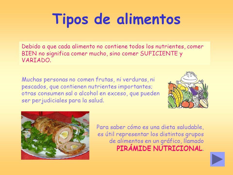 La nutrici n y la salud ppt video online descargar - Alimentos que bajen la tension ...