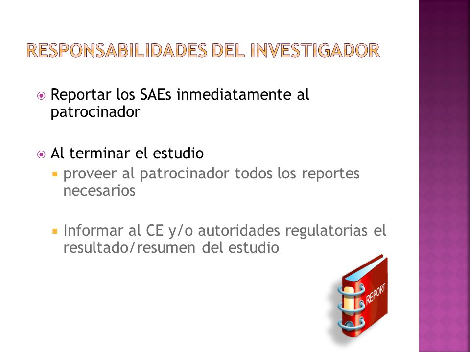 Responsabilidades del Equipo de Investigación - ppt descargar