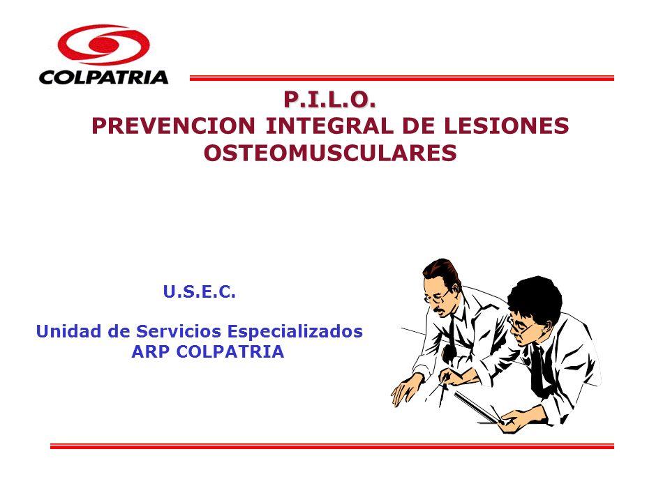 P.I.L.O. PREVENCION INTEGRAL DE LESIONES OSTEOMUSCULARES