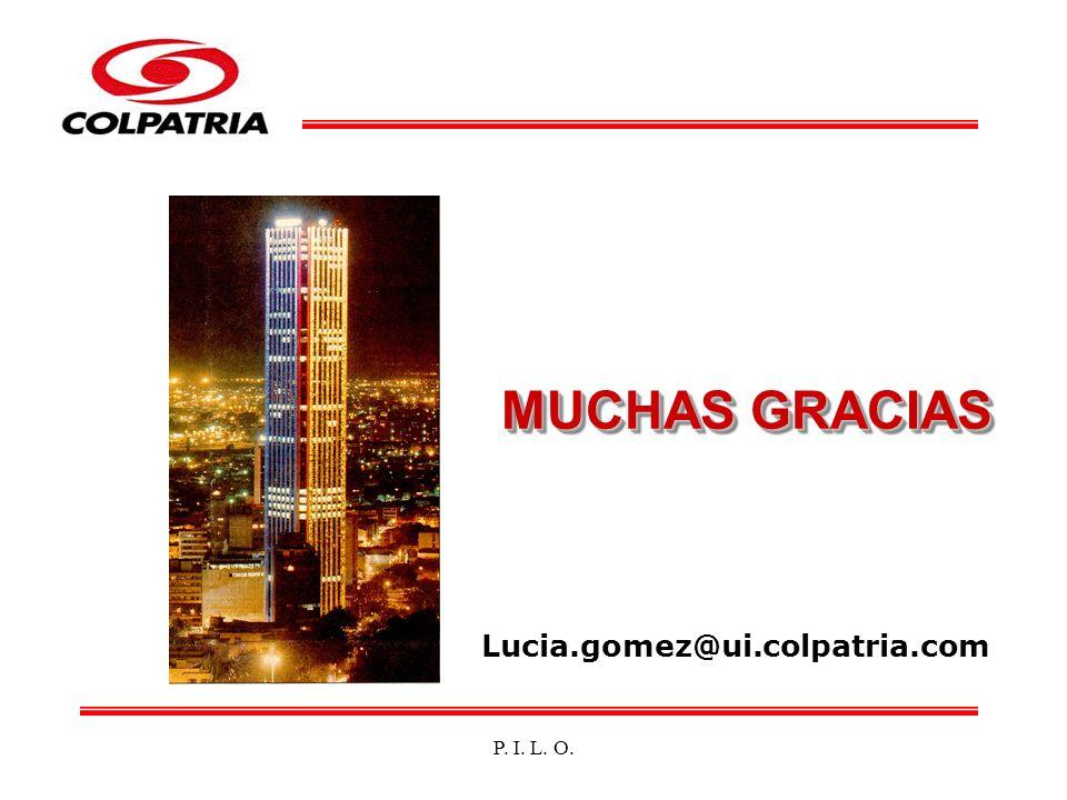 MUCHAS GRACIAS Lucia.gomez@ui.colpatria.com P. I. L. O.