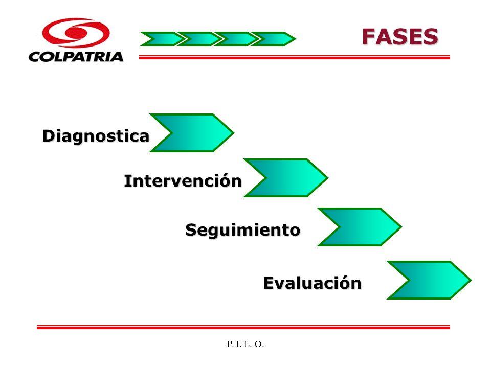 FASES Diagnostica Intervención Seguimiento Evaluación P. I. L. O.