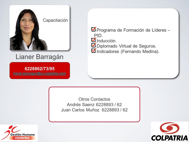 Lianer Barragán Capacitación Programa de Formación de Líderes –PID.