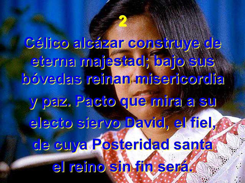 electo siervo David, el fiel, de cuya Posteridad santa