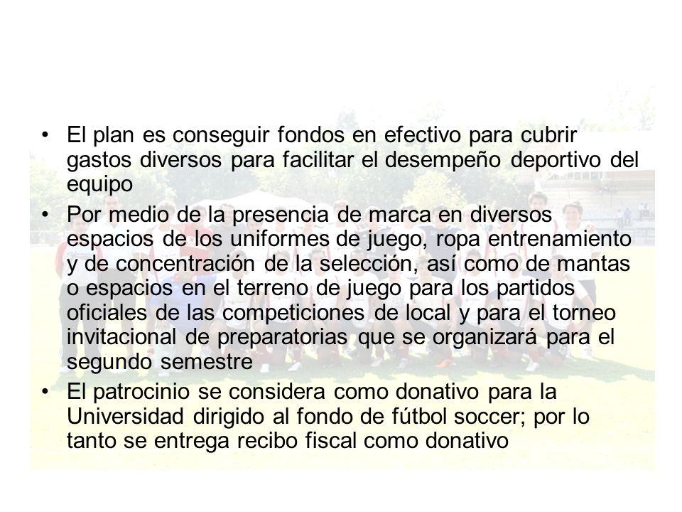 El plan es conseguir fondos en efectivo para cubrir gastos diversos para facilitar el desempeño deportivo del equipo