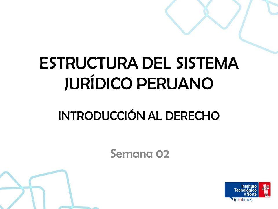 Estructura Del Sistema Jurídico Peruano Introducción Al Derecho