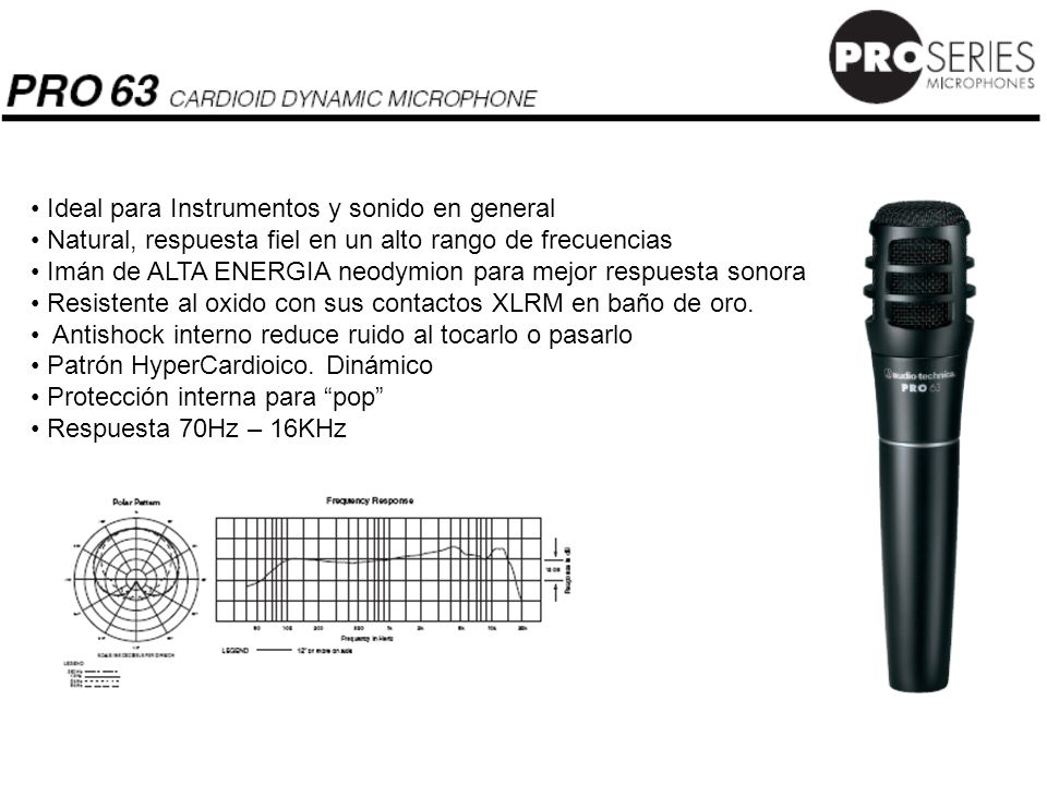 Ideal para Instrumentos y sonido en general
