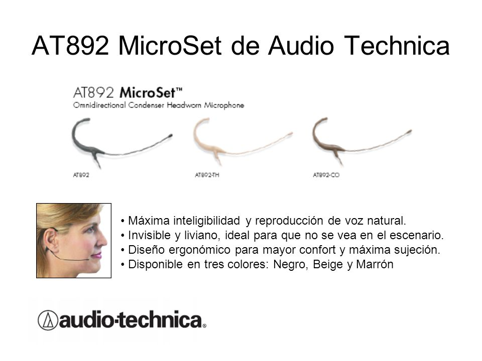 AT892 MicroSet de Audio Technica