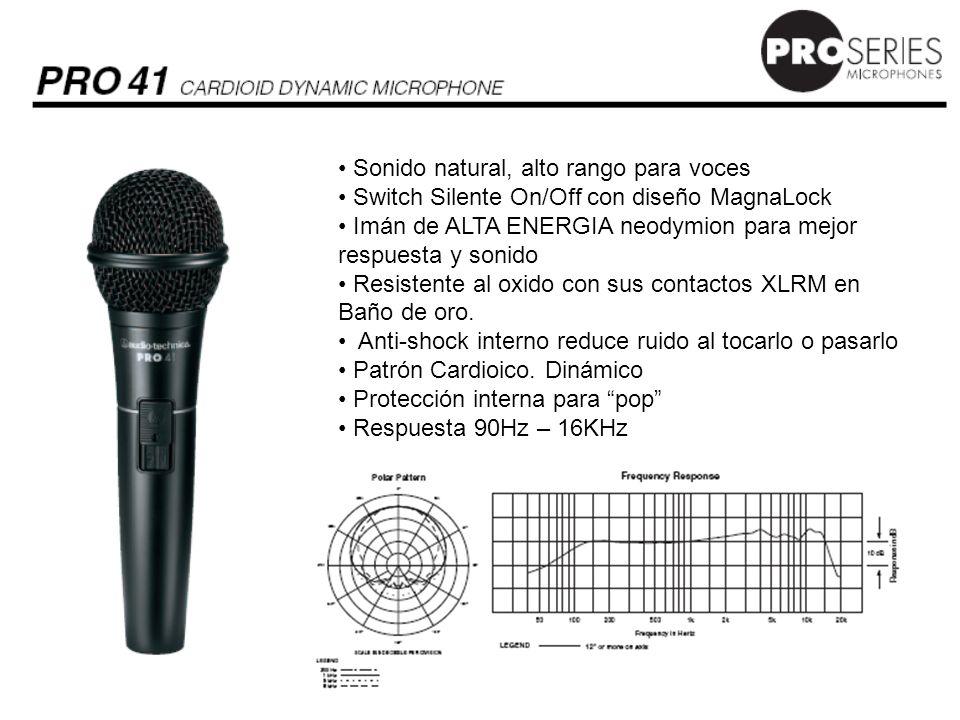 Sonido natural, alto rango para voces