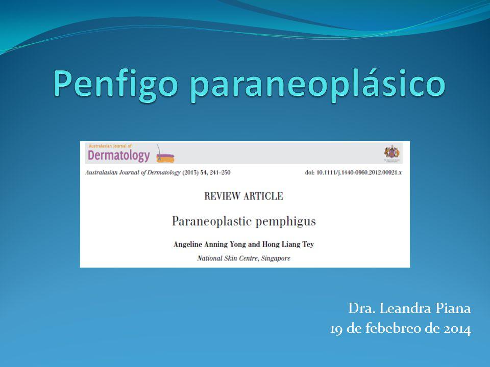 Penfigo paraneoplásico