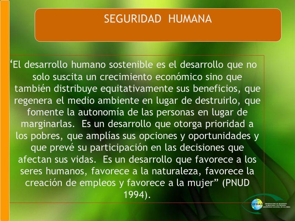Seguridad Humana SEGURIDAD HUMANA
