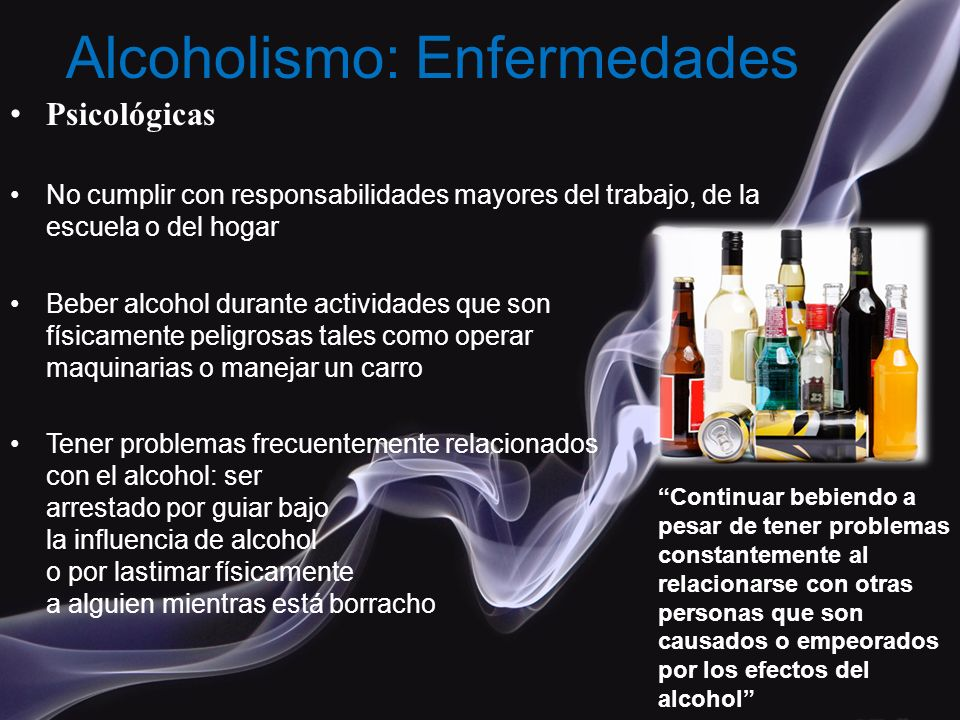 Alcoholismo: Enfermedades