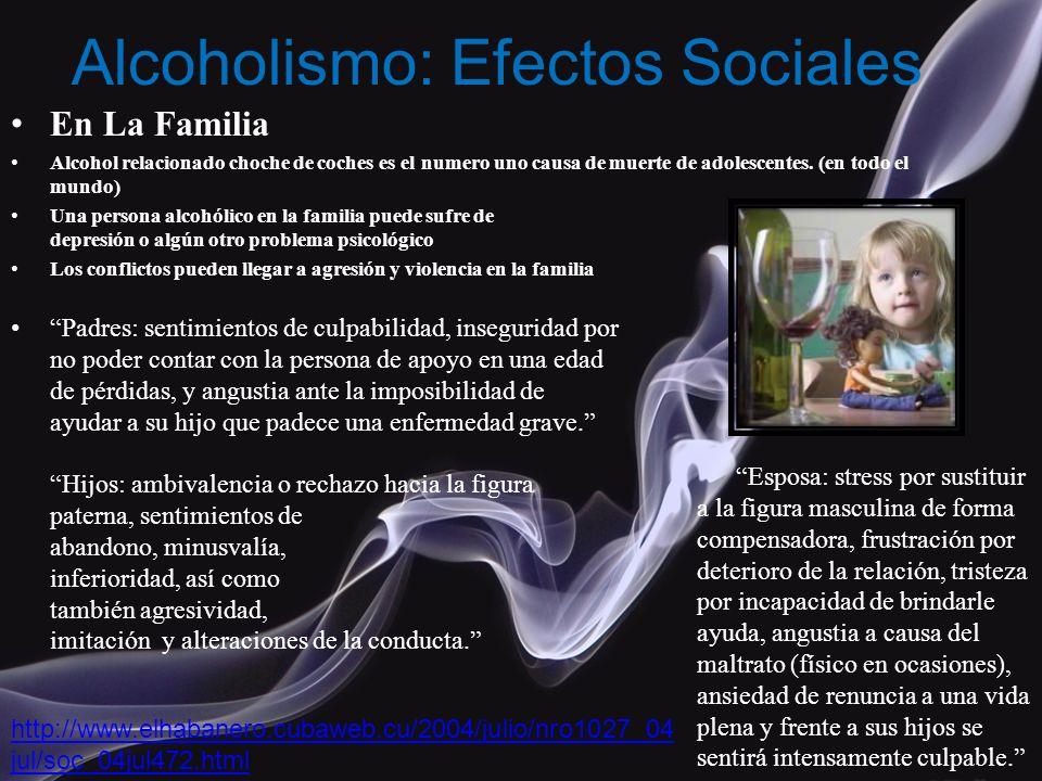 Alcoholismo: Efectos Sociales