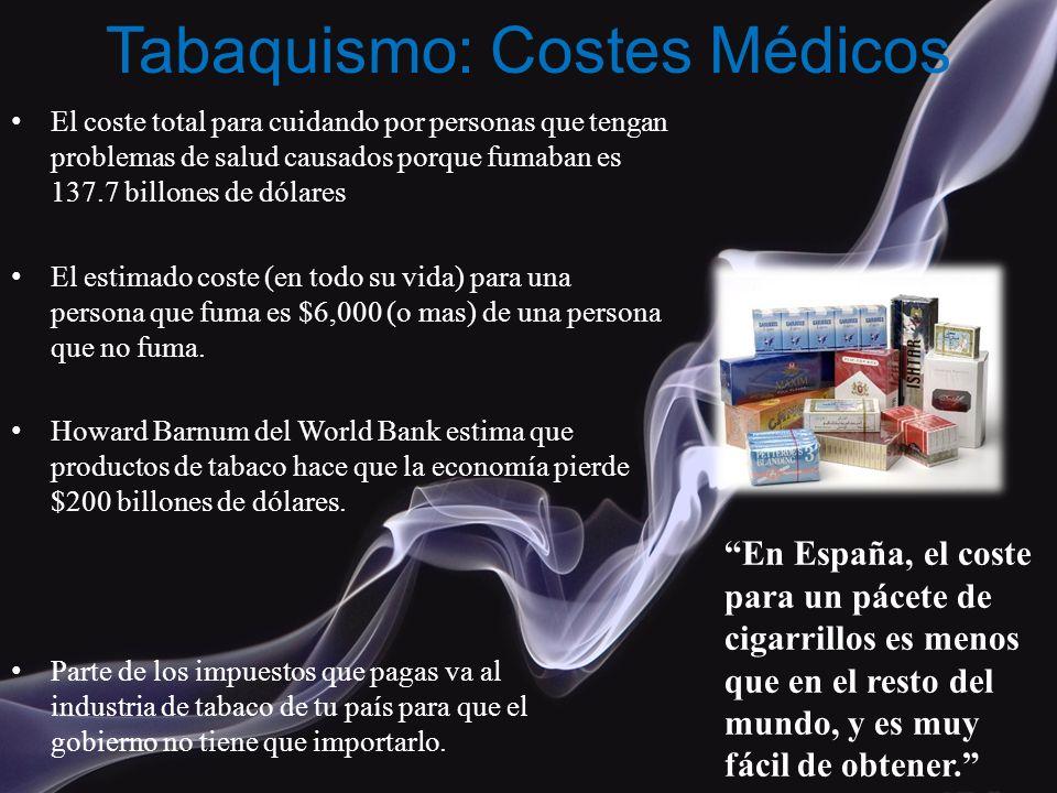 Tabaquismo: Costes Médicos