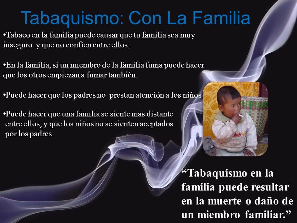 Tabaquismo: Con La Familia