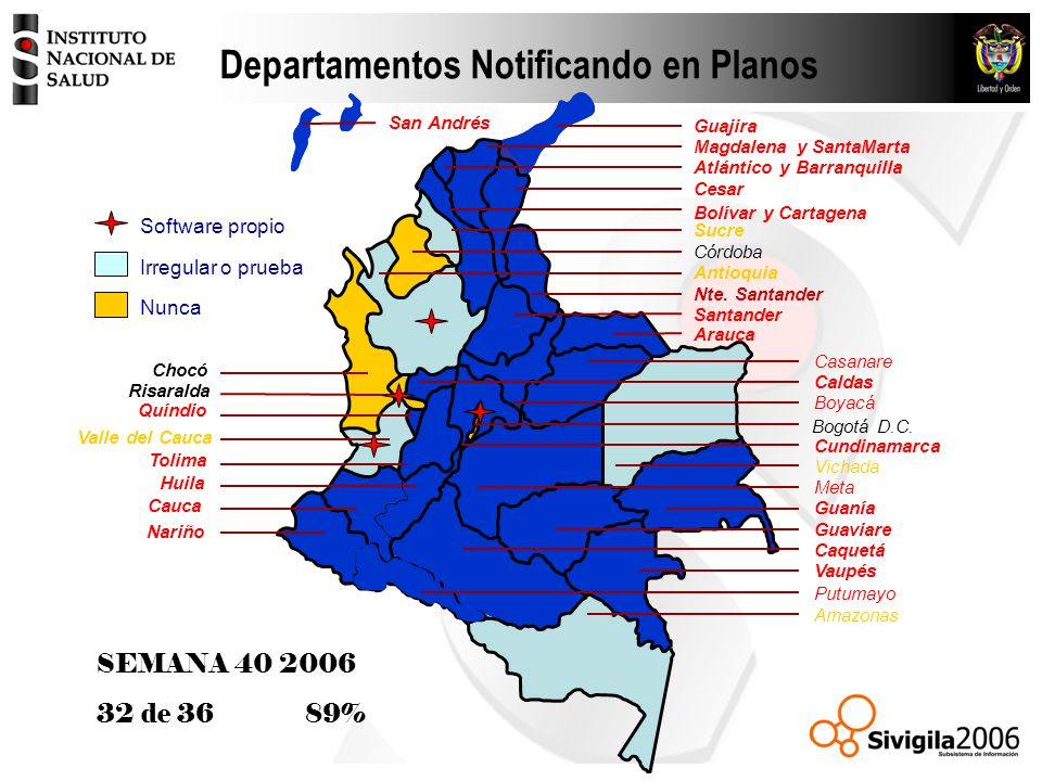 Departamentos Notificando en Planos