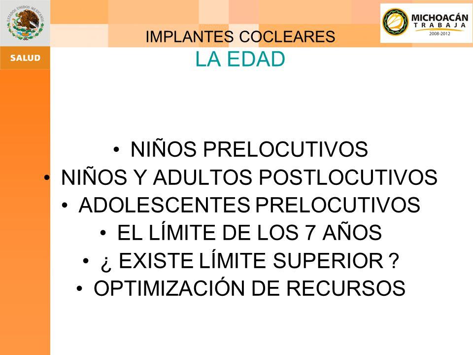 Implante coclear Solución para niños y adultos y tipo