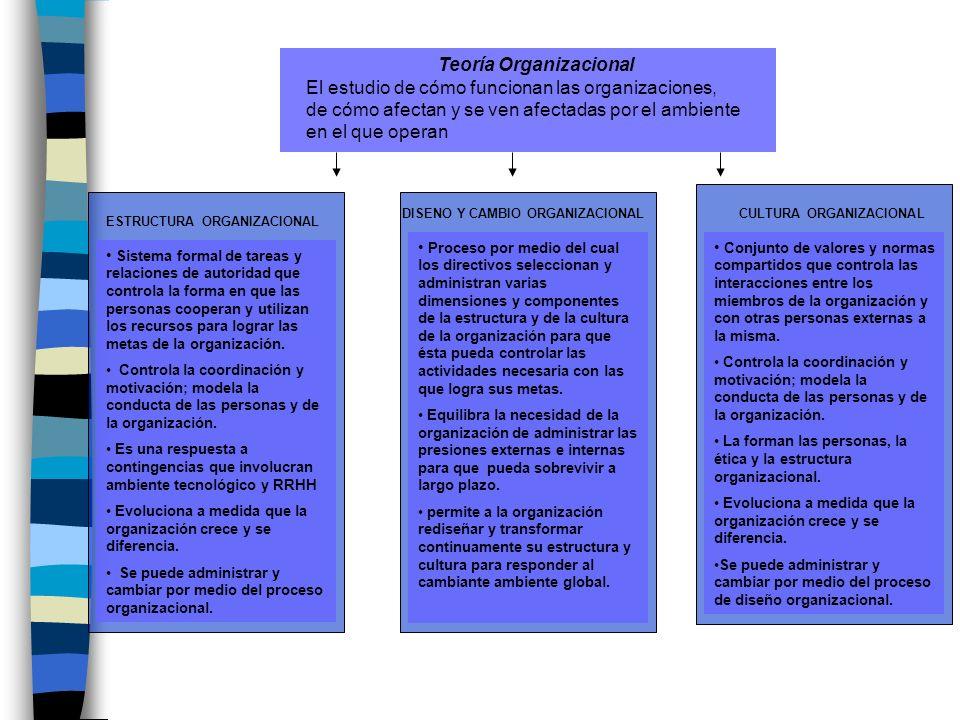 Teoría Organizacional CULTURA ORGANIZACIONAL