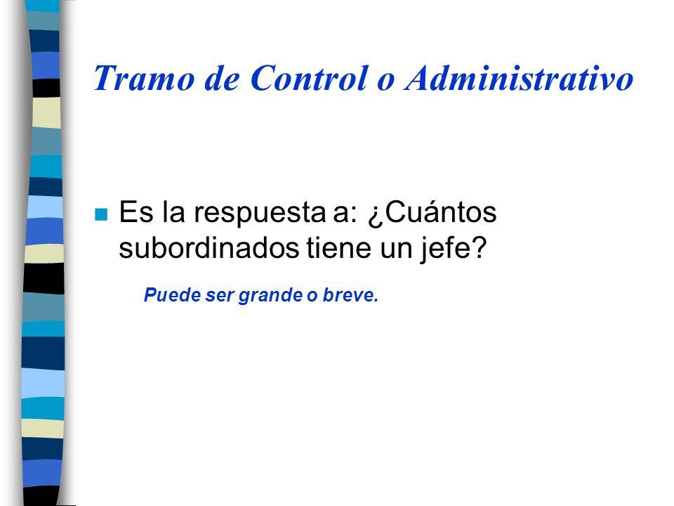 Tramo de Control o Administrativo