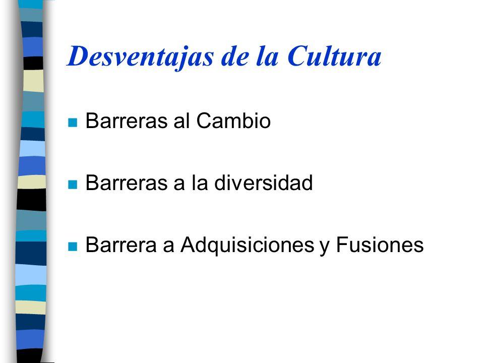 Desventajas de la Cultura