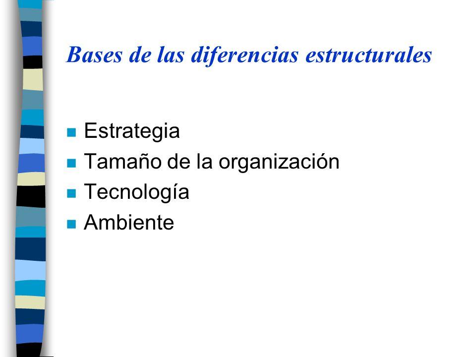 Bases de las diferencias estructurales