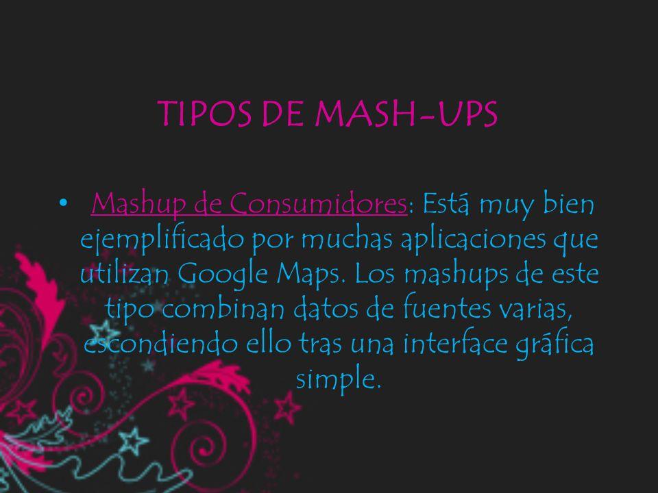 TIPOS DE MASH-UPS