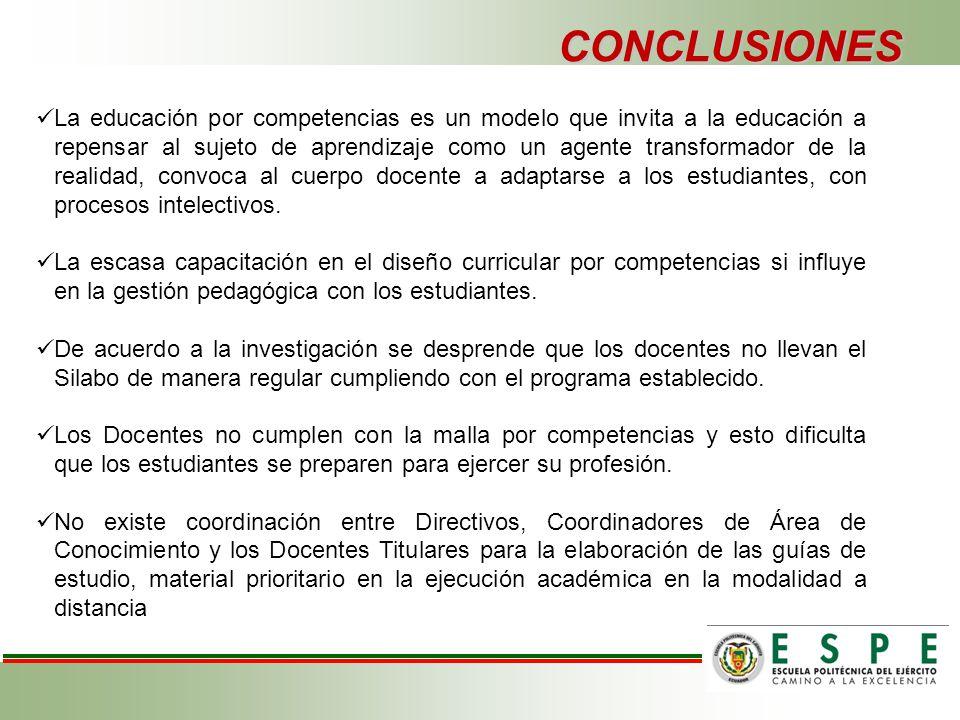 INCIDENCIA DEL PROCESO DE EJECUCIÓN DE LA PLANIFICACIÓN CURRICULAR ...