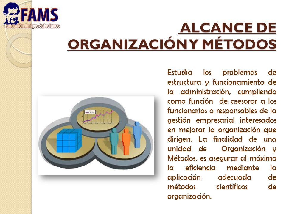 ALCANCE DE ORGANIZACIÓN Y MÉTODOS