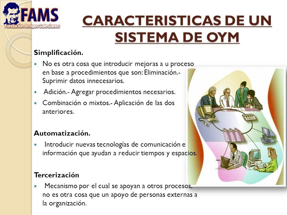 CARACTERISTICAS DE UN SISTEMA DE OYM