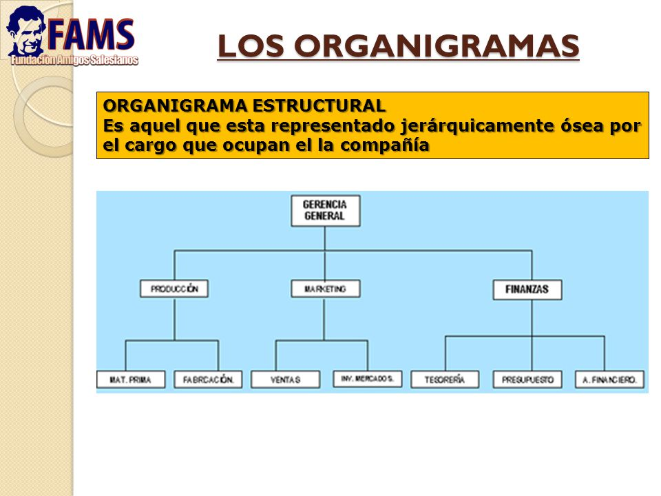 LOS ORGANIGRAMAS ORGANIGRAMA ESTRUCTURAL