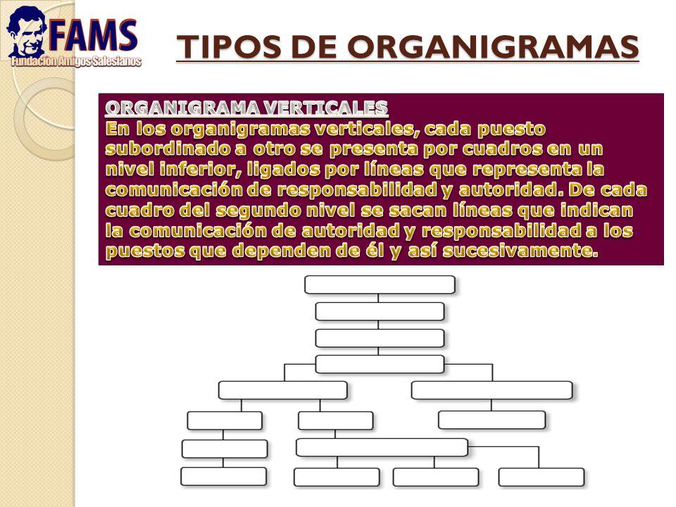 TIPOS DE ORGANIGRAMAS ORGANIGRAMA VERTICALES