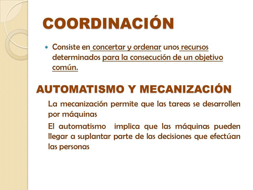 COORDINACIÓN AUTOMATISMO Y MECANIZACIÓN
