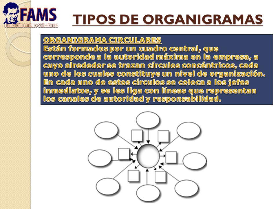 TIPOS DE ORGANIGRAMAS ORGANIGRAMA CIRCULARES