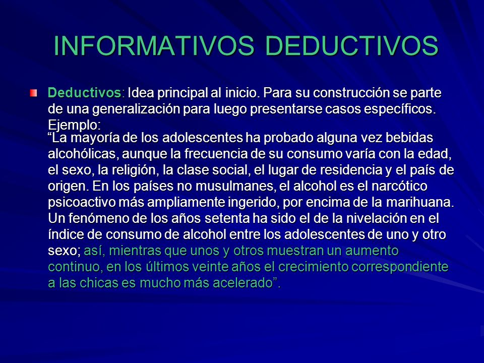 INFORMATIVOS DEDUCTIVOS