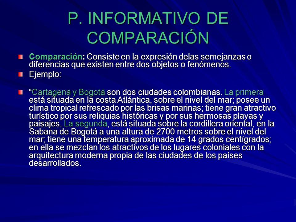 P. INFORMATIVO DE COMPARACIÓN