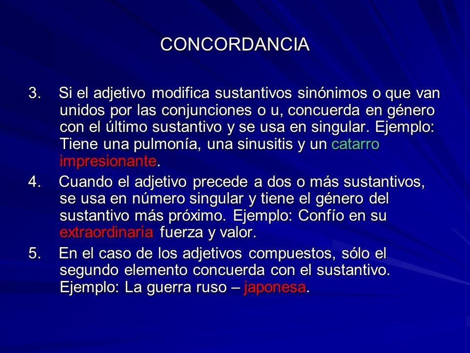 CONCORDANCIA