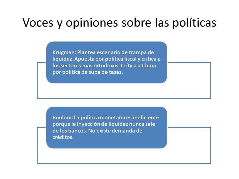 Voces y opiniones sobre las políticas