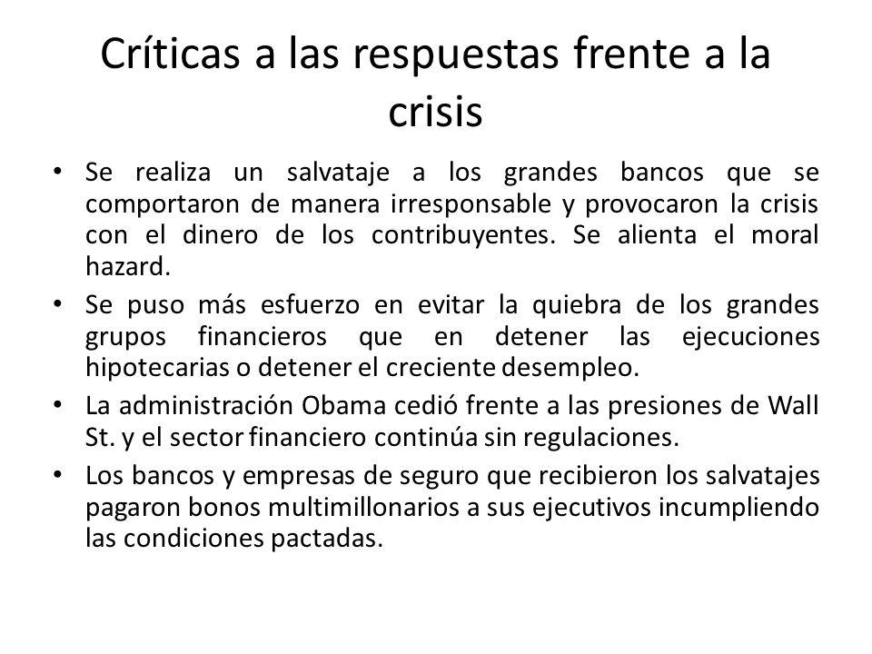 Críticas a las respuestas frente a la crisis