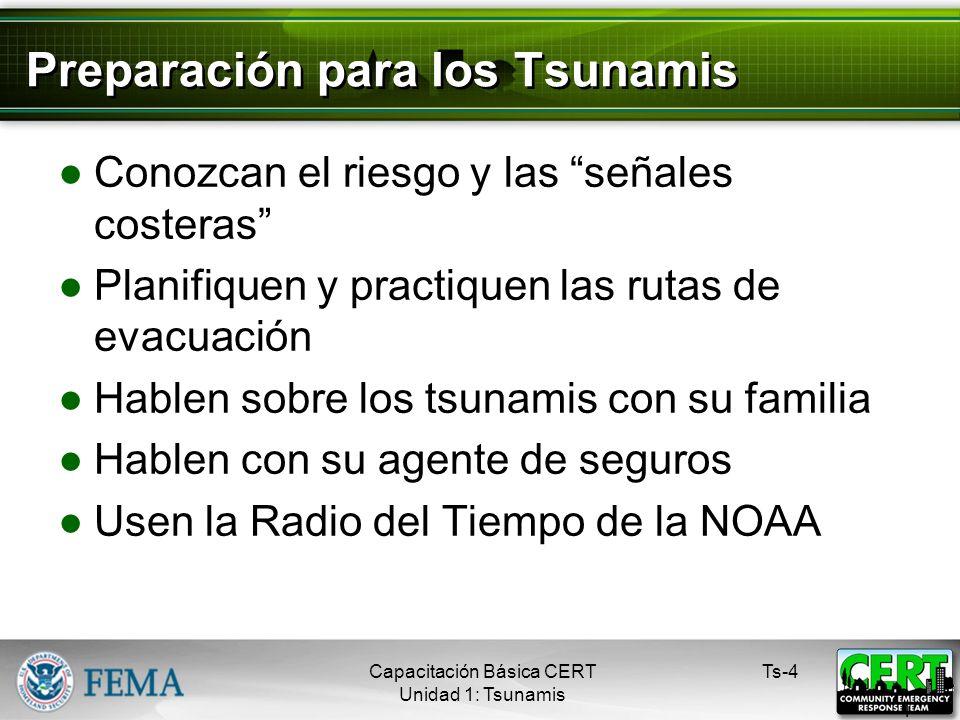 Preparación para los Tsunamis