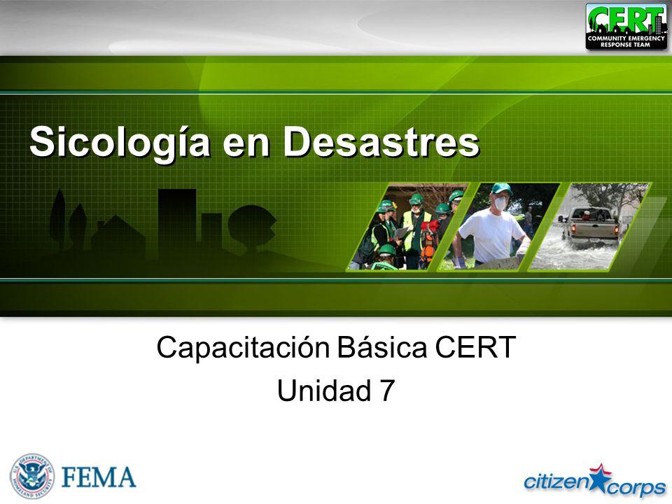 Sicología en Desastres