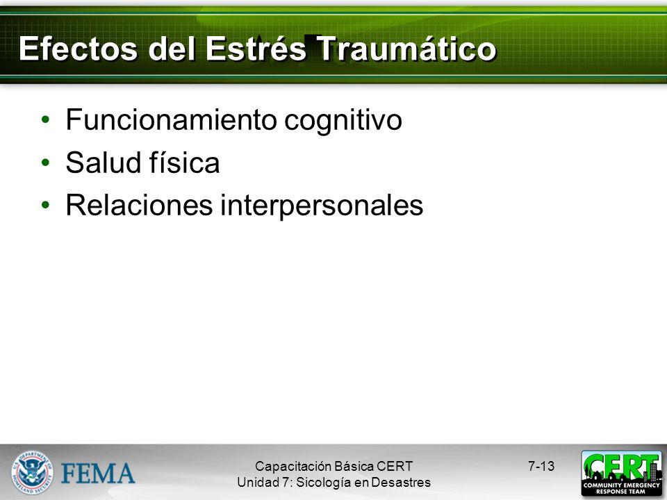 Efectos del Estrés Traumático