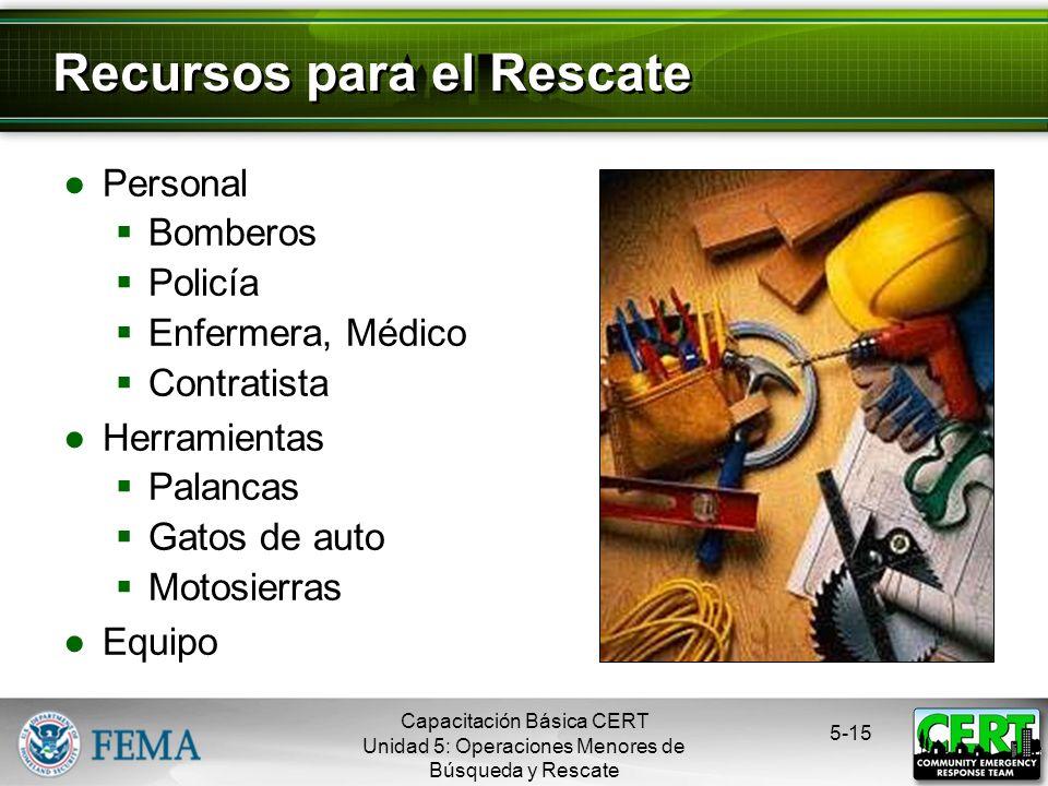 Recursos para el Rescate
