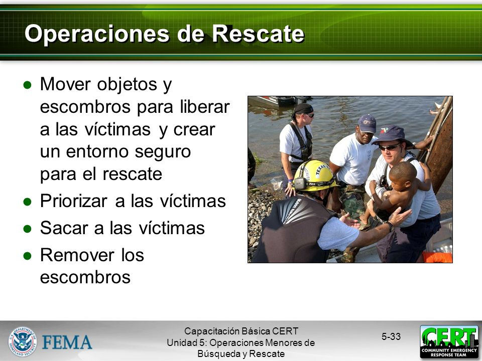Operaciones de Rescate