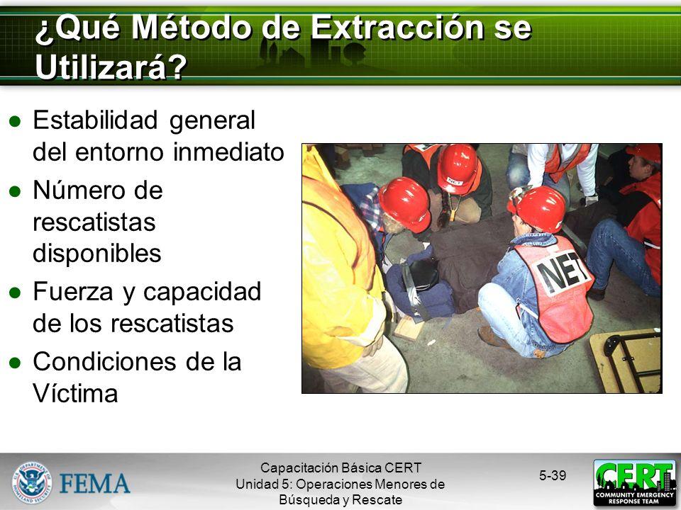 ¿Qué Método de Extracción se Utilizará