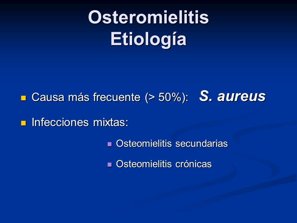 Osteromielitis Etiología