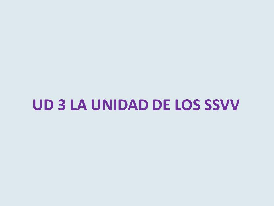 UD 3 LA UNIDAD DE LOS SSVV