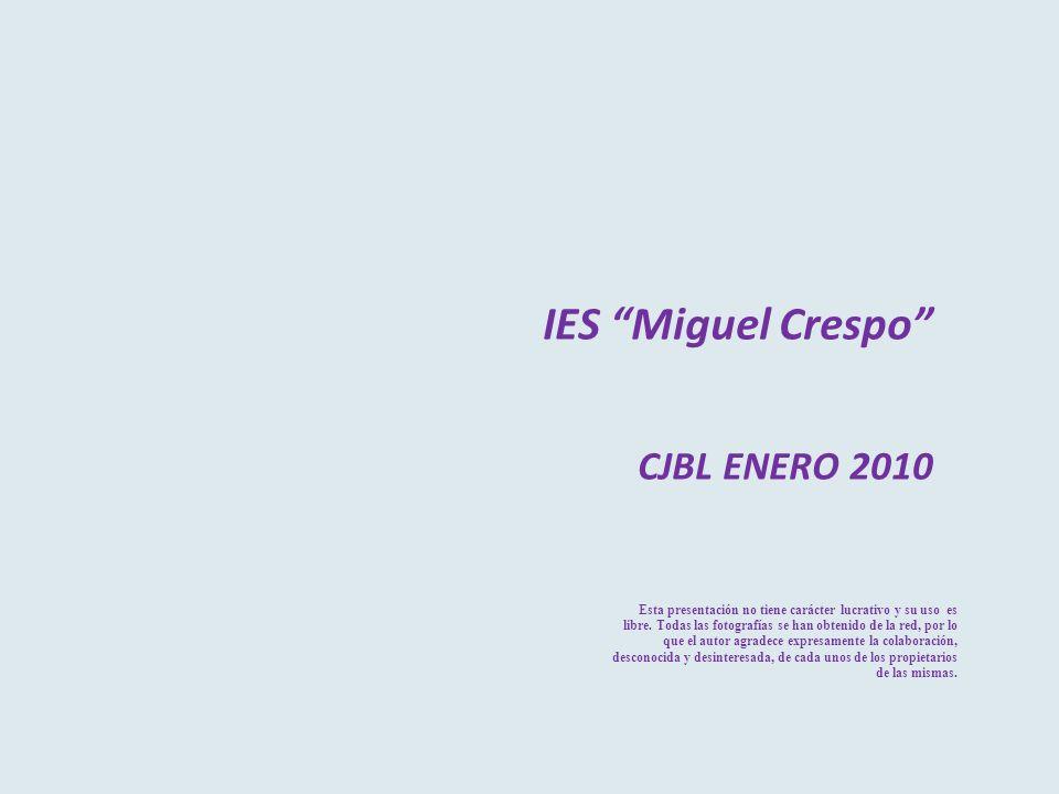 IES Miguel Crespo CJBL ENERO 2010