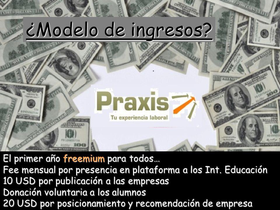 ¿Modelo de ingresos El primer año freemium para todos…